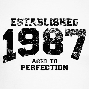 Geburtstag - established 1987 - aged to perfection - Männer Baseballshirt langarm