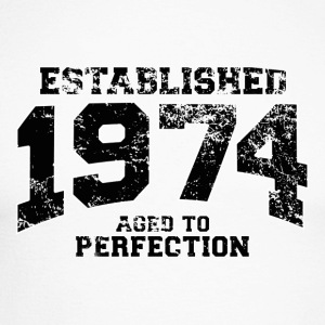 established 1974 - aged to perfection(fr) Tee shirts manches longues - T-shirt baseball manches longues Homme