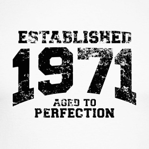 Geburtstag - established 1971 - aged to perfection - Männer Baseballshirt langarm