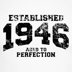 established 1946 - aged to perfection (uk) Long sleeve shirts - Men's Long Sleeve Baseball T-Shirt