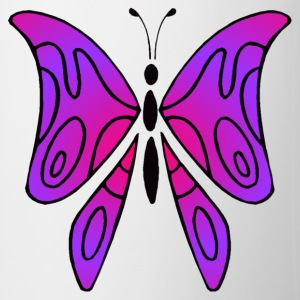 Pink and purple butterfly - Cup - Kop/krus