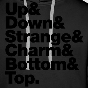 Up & Down & Strange & Charm & Bottom & Top. Pullover - Männer Premium Hoodie