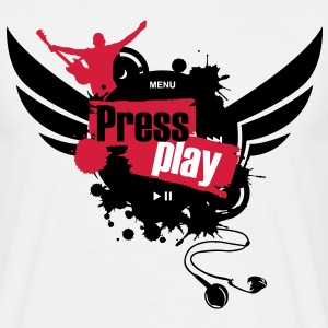 press_play5_undirt_buttons T-Shirts - Männer T-Shirt