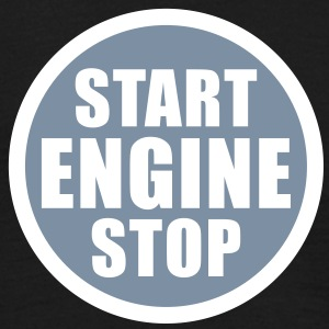 start stop engine T-Shirts - Mannen T-shirt