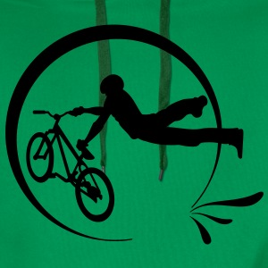 Kelly green  Bike Freestyle Hoodies & Sweatshirts - Men's Premium Hoodie