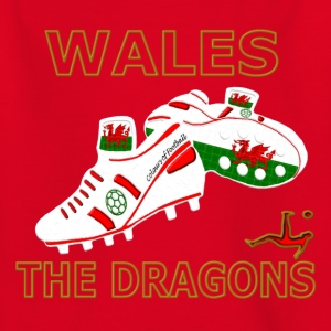 wales football boots white red gold Kids' Shirts - Kids' T-Shirt