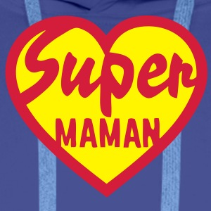 coeur heart super maman Sweat-shirts - Sweat-shirt à capuche Premium pour hommes