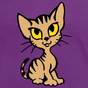 Chaton Tee shirts - T-shirt contraste Femme