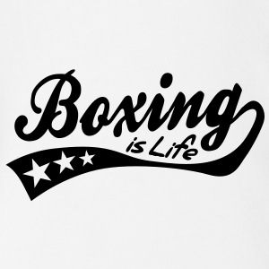 boxing is life - retro Babybody - Økologisk kortermet baby-body