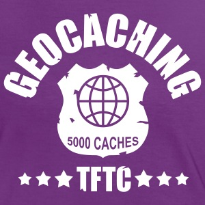 geocaching - 5000 caches - TFTC / 1 color Tee shirts - T-shirt contraste Femme