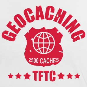 geocaching - 2500 caches - TFTC / 1 color T-shirts - Kontrast-T-shirt dam