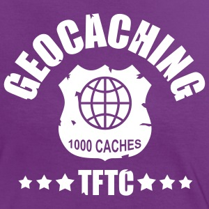 geocaching - 1000 caches - TFTC / 1 color Tee shirts - T-shirt contraste Femme