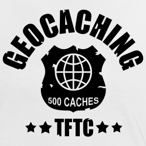 geocaching - 500 caches - TFTC / 1 color Tee shirts - T-shirt contraste Femme