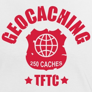 geocaching - 250 caches - TFTC / 1 color Tee shirts - T-shirt contraste Femme