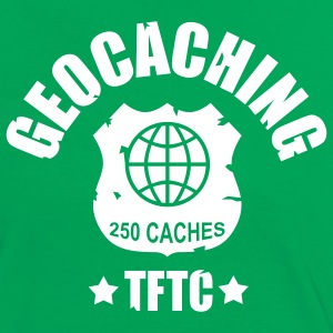 geocaching - 250 caches - TFTC / 1 color T-shirts - Kontrast-T-shirt dam