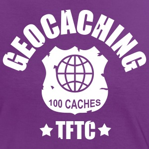 geocaching - 100 caches - TFTC / 1 color T-shirts - Kontrast-T-shirt dam