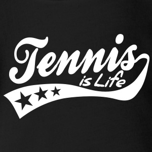tennis is life - retro Body neonato - Body ecologico per neonato a manica corta
