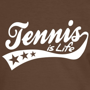 tennis is life - retro T-skjorter - Kontrast-T-skjorte for menn