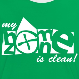 my homezone is clean - 1color - Women's Ringer T-Shirt