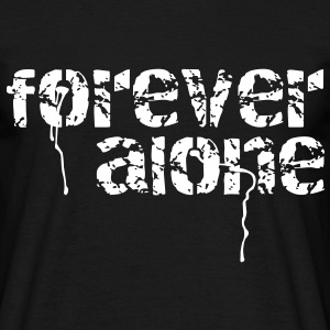 forever alone T-shirts - Herre-T-shirt