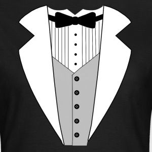 TUXEDO SMOKING ANZUG SHIRT - Frauen T-Shirt