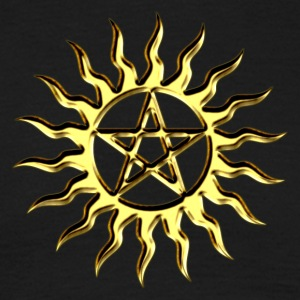 Pentagram - Blazing Star- Sign of intellectual omnipotence and autocracy. digital gold, Star of the Magi , powerful symbol of protection T-skjorter - T-skjorte for menn