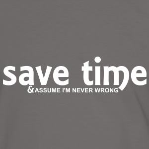 save time (1c) T-Shirts - Men's Ringer Shirt