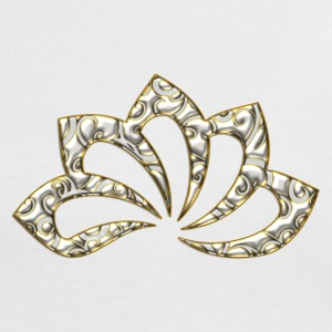 Lotus Flower, digital, gold silver, symbol of perfection and enlightenment, sacred symbol T-skjorter - Kontrast-T-skjorte for kvinner