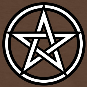 Pentagram amulet- Sign of intellectual omnipotence and autocracy. 2c, Star of the Magi , powerful symbol of protection Tee shirts - T-shirt contraste Homme