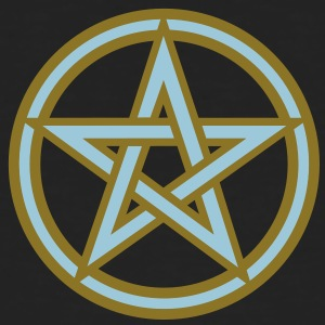 Pentagram amulet- Sign of intellectual omnipotence and autocracy. 2c, Star of the Magi , powerful symbol of protection T-shirts - Mannen Bio-T-shirt