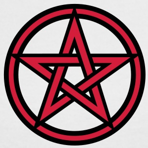 Pentagram amulet- Sign of intellectual omnipotence and autocracy. 2c, Star of the Magi , powerful symbol of protection T-shirt - Maglietta Contrast da donna