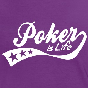 poker is life - retro T-skjorter - Kontrast-T-skjorte for kvinner