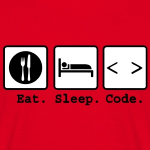 eat sleep code Nerd Wear T-Shirts - Männer T-Shirt