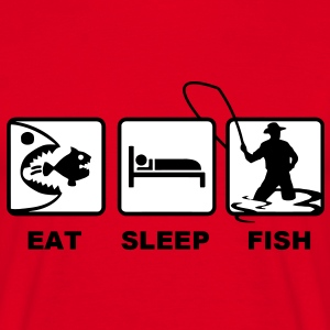 Red eat sleep fish T-Shirts - Men's T-Shirt