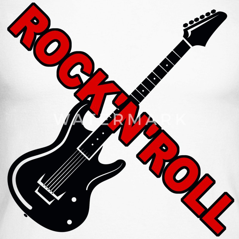 rock'n'roll guitar Tee shirts manches longues - T-shirt baseball manches longues Homme