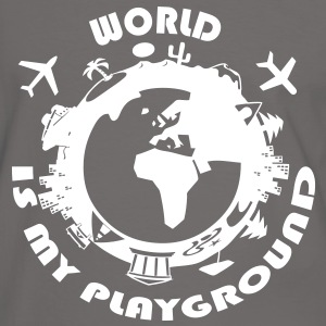 World Is My Playground T-Shirts - Men's Ringer Shirt