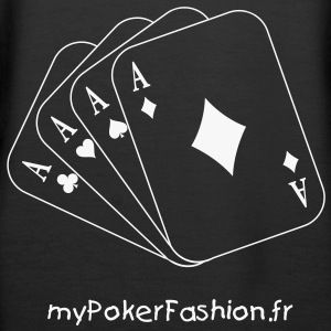 poker - carre as - Sweat-shirt à capuche Premium pour femmes