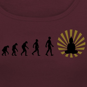 Darwin, evolution, revolution, enlightened, Buddha - Women's Scoop Neck T-Shirt