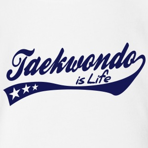 taekwondo is life - retro Baby Bodysuits - Organic Short-sleeved Baby Bodysuit