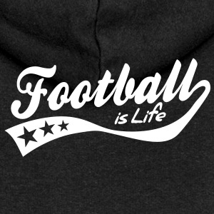 football is life - retro Jackets & Vests - Women's Premium Hooded Jacket