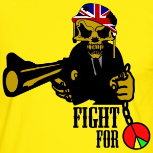 fight for peace T-Shirts - Männer Kontrast-T-Shirt