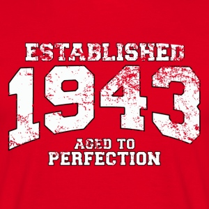 established 1943 - aged to perfection (sv) T-shirts - T-shirt herr