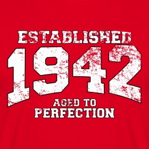 established 1942 - aged to perfection (dk) T-shirts - Herre-T-shirt