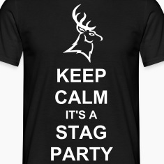 Keep calm it's a stag party t-shirt