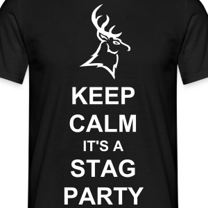 Keep calm it's a stag party t-shirt - Men's T-Shirt