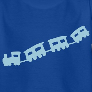 Koningsblauw train Kinder shirts - Kinderen T-shirt