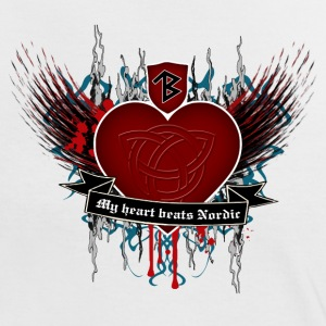Thorbine Frauen Kontrast-shirt Northern Heart - Frauen Kontrast-T-Shirt