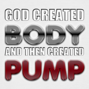 God Created Body Pump T-Shirts - Men's Baseball T-Shirt
