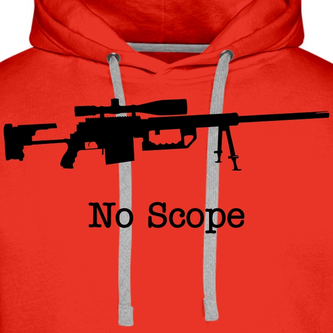 Mens Hoodie : No Scope (Black)