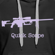Design ~ Womens Hoodie : Quick Scope (Lavender)